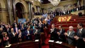 Votación de la declaración de independencia el pasado viernes en el Parlament de Cataluña