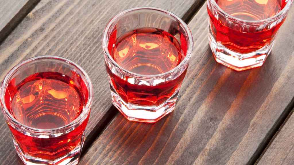 cherry liqueur in the shooters