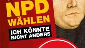 Imagen de Martín Lutero, padre de la Reforma, utilizada por el NPD.