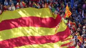 Manifestación por la unidad de España celebrada el domingo 29 de octubre en Barcelona.