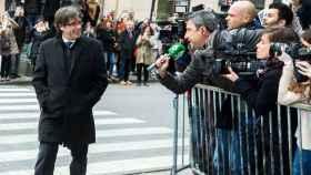 Carles Puigdemont, en Bruselas (Bélgica)