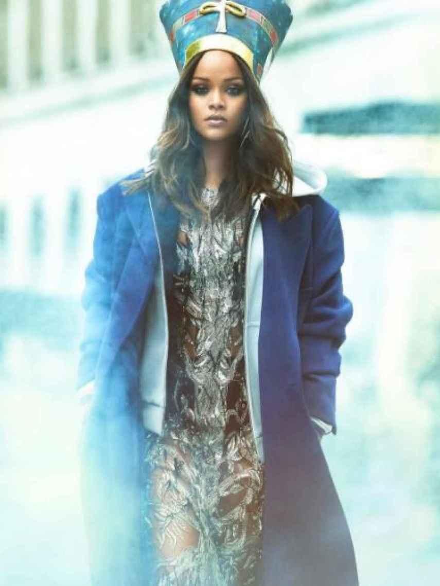 Rihanna en el reportaje de la revista Vogue.