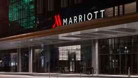 El exterior de uno de los hoteles Marriott.