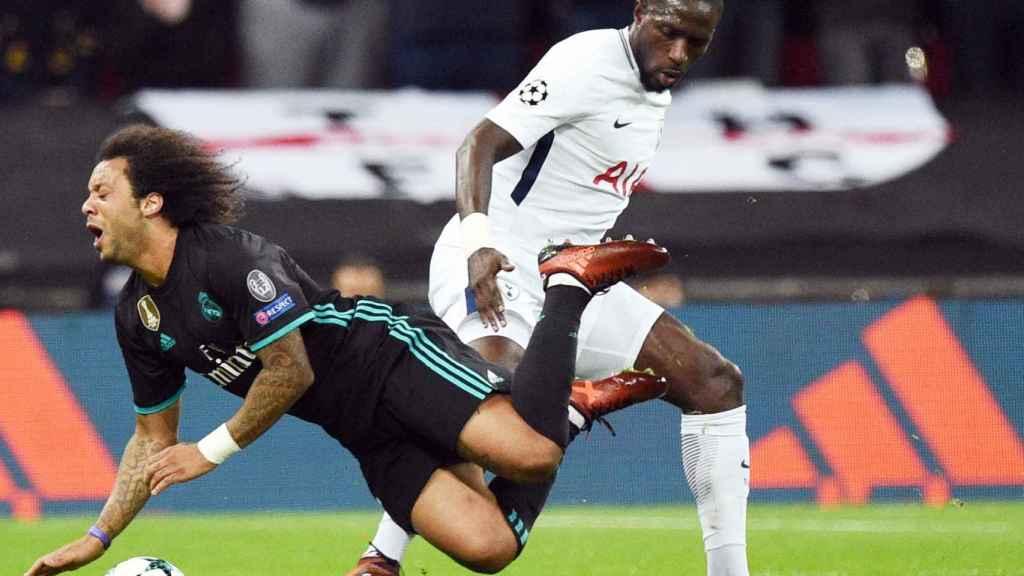 Marcelo hizo ante el Tottenham uno de sus peores partidos en años.
