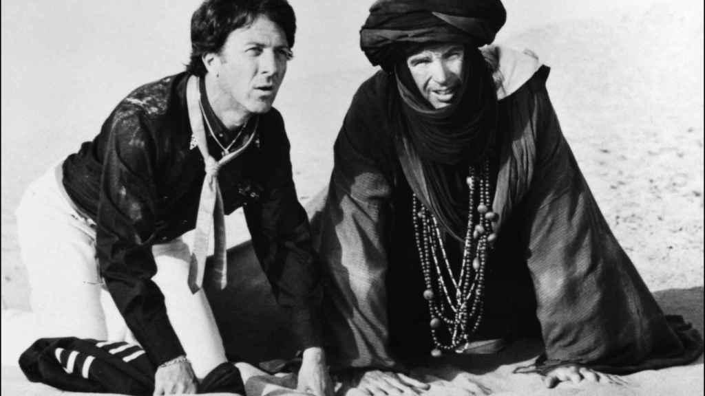 Dustin Hoffman y Warren Beatty en la película 'ISHTAR'.