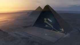 Vista aérea de la pirámide.