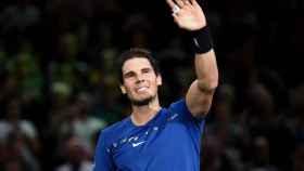 Rafael Nadal tras la victoria con la que aseguró el número uno del mundo.