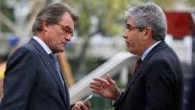 Artur Mas y Francesc Homs, ante la Audiencia Nacional.