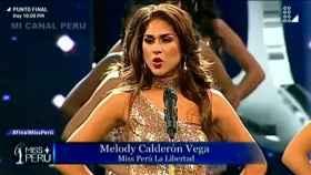 Una de las participantes del concurso de Miss Perú.