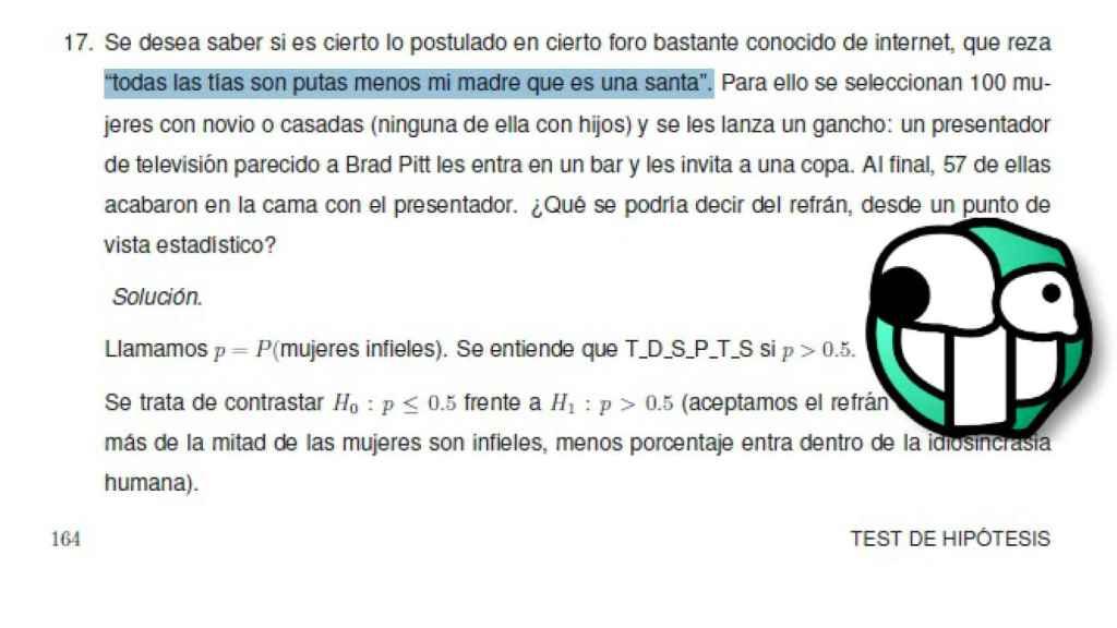 Uno de los enunciados que aparecen en el libro de Alejandro Quintela.