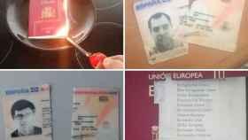Catalanes independentistas rompieron sus documentos tras la DUI.