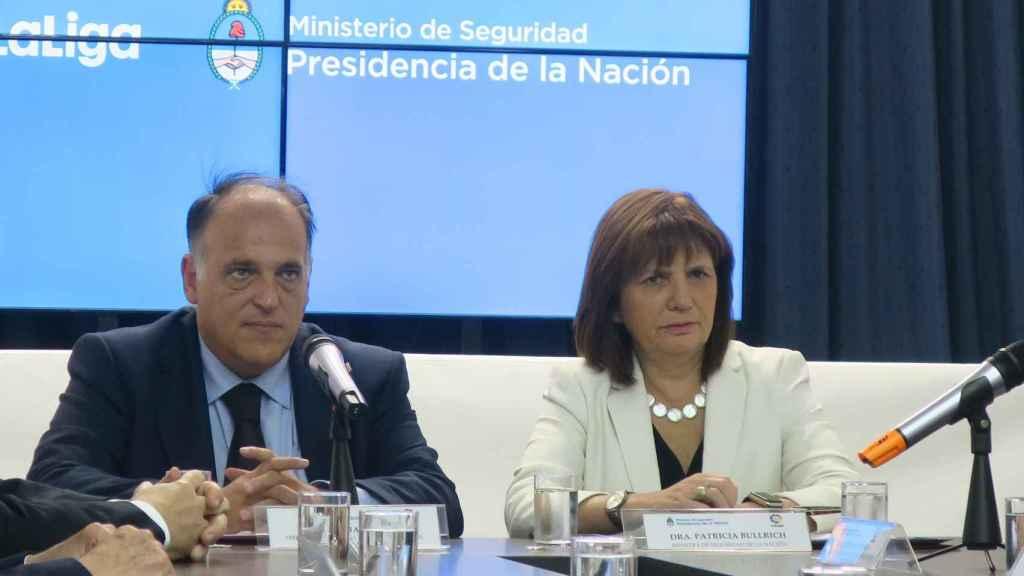 Tebas, en un evento hoy en Buenos Aires. Foto: EFE