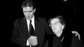 Antonio Banderas  junto a su madre, Ana, en 2008.