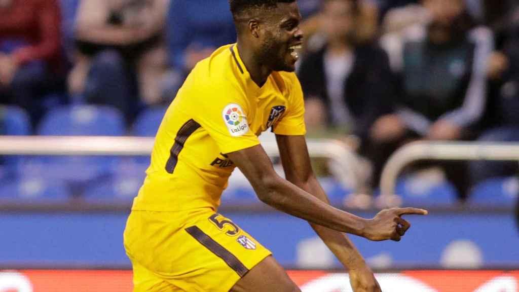 Thomas celebra su gol contra el Deportivo.