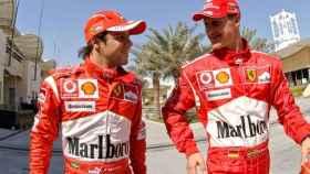 Felipe Massa y Schumacher.