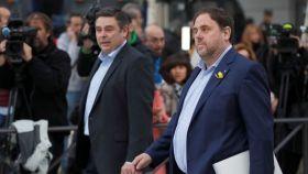 El exvicepresidente catalán, Oriol Junqueras, en la Audiencia Nacional.