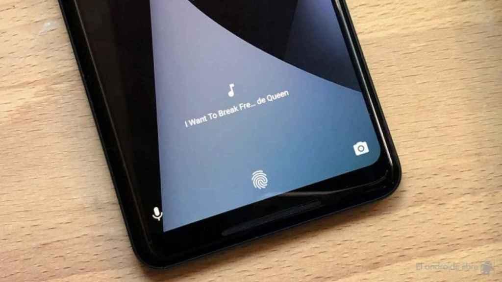 Pixel 2Xl ejecutando el reconocimiento de canciones