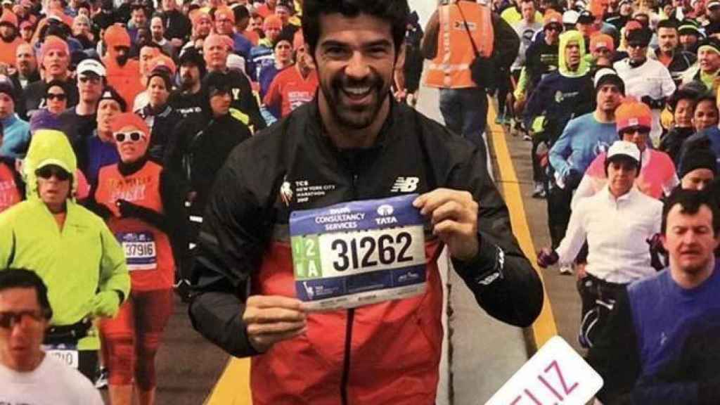 Miguel Ángel Muñoz en la maratón de Nueva York.