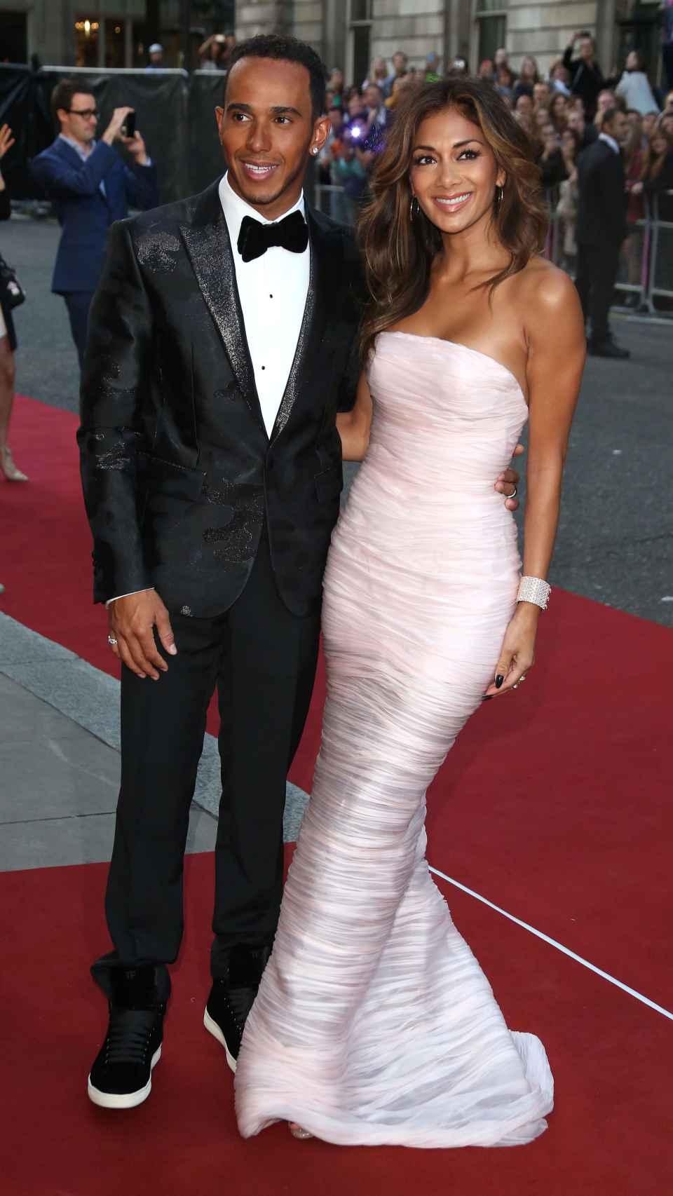 Hamilton y su exnovia Nicole Scherzinger en una de sus última imágenes juntos.