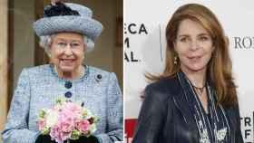 La reina Isabel II y Noor de Jordania.