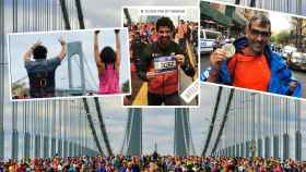 Miguel Ángel Muñoz, Samantha Vallejo-Nájera y Paco Roncero, en la maratón de NY