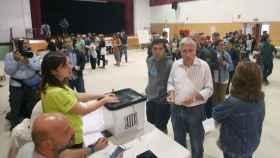 Votación en un colegio de Tarragona el 1-O