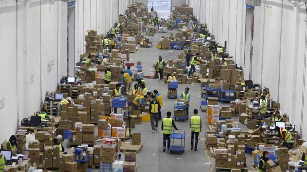 Un almacén de paquetes, para una imagen de archivo.