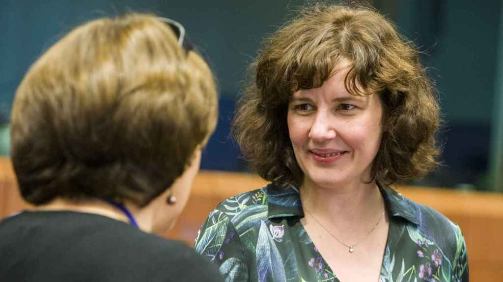 La ministra letona, Dana Reizniece-Ozola