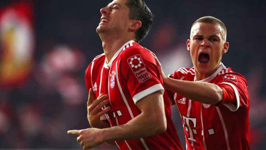 Lewandowski celebra un gol contra el Borussia Dortmund.