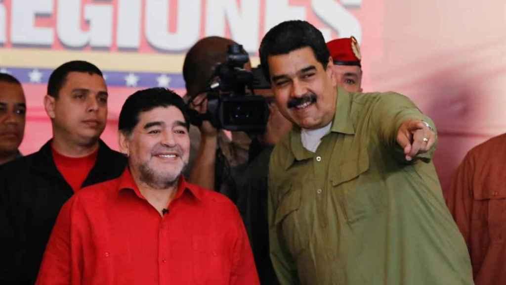 Maradona, junto a Nicolás Maduro en Venezuela.