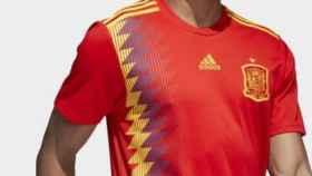 Camiseta republicana de la selección española de fútbol.