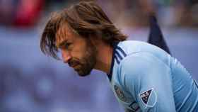 Pirlo, con el New York City. Foto Twitter (@Pirlo_official)
