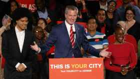 Bill de Blasio, tras su reelección como alcalde de Nueva York.