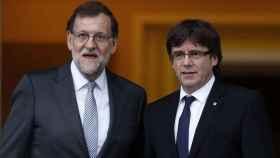 Rajoy y Puigdemont, durante un encuentro en La Moncloa.