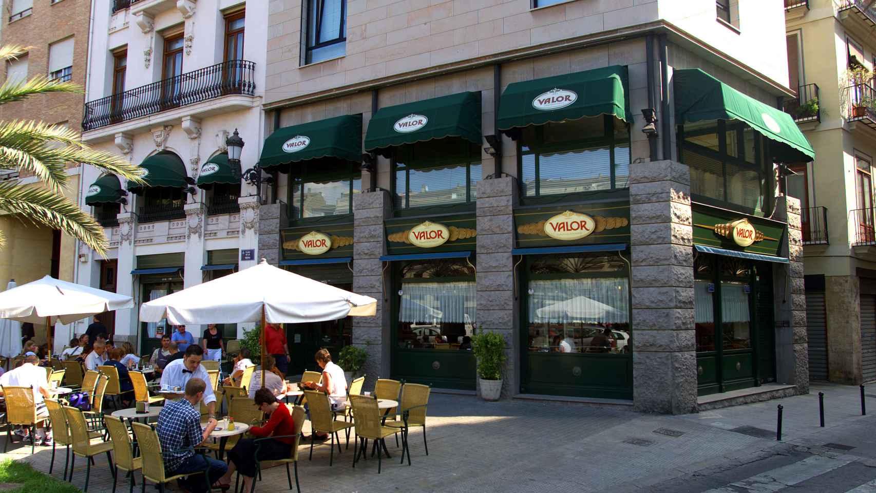 Una chocolatería Valor en Valencia.