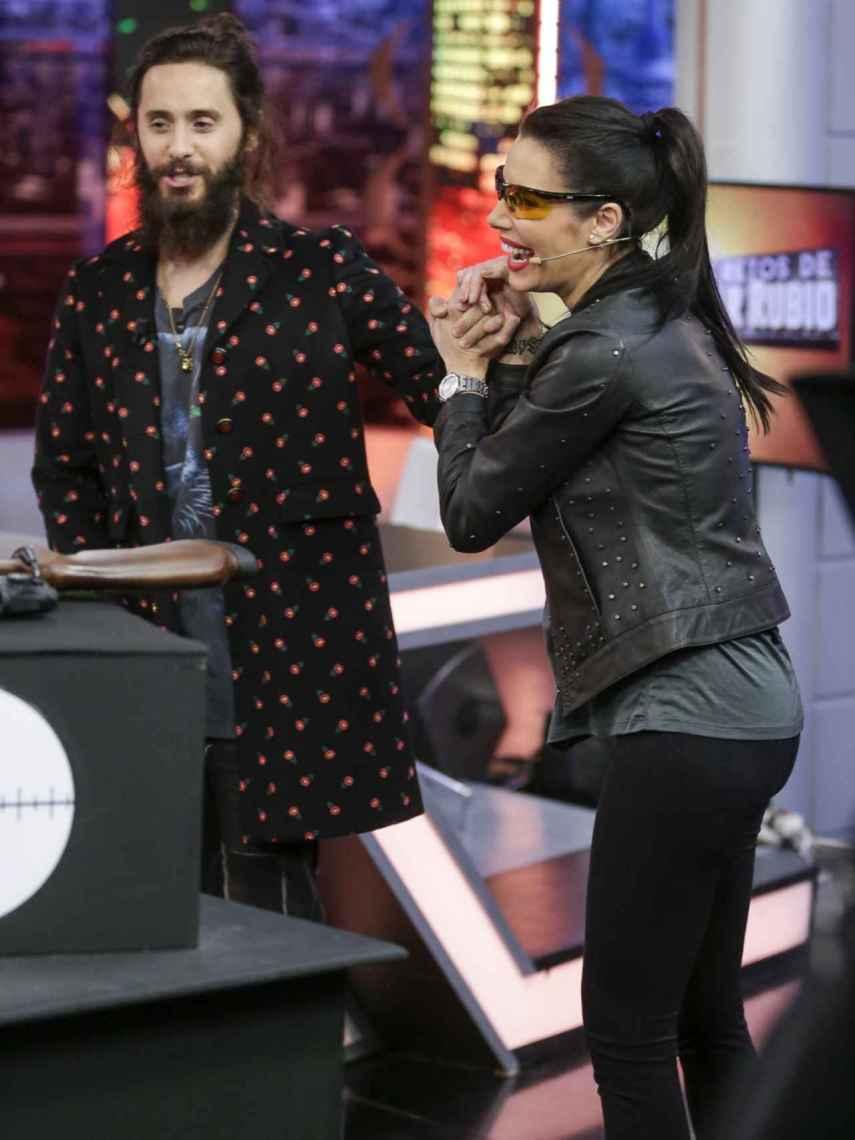 Jared Leto y Pilar Rubio durante un momento del programa.