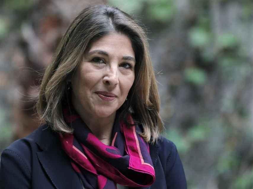 Naomi Klein en Barcelona, en la presentación de su nuevo libro.