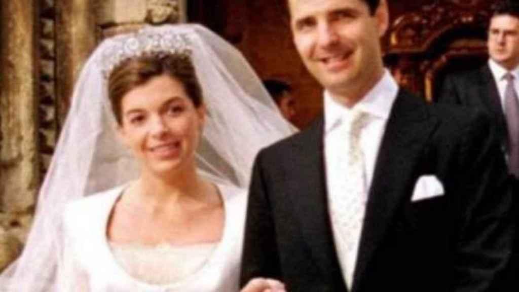 Jaime Carvajal y Xandra Falcó, el día de su boda.