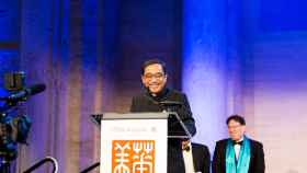 Silas Chou hace una semana en la gala Blue Cloud, en el Instituto Chino de Nueva York.