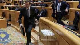 Rajoy a la fuga
