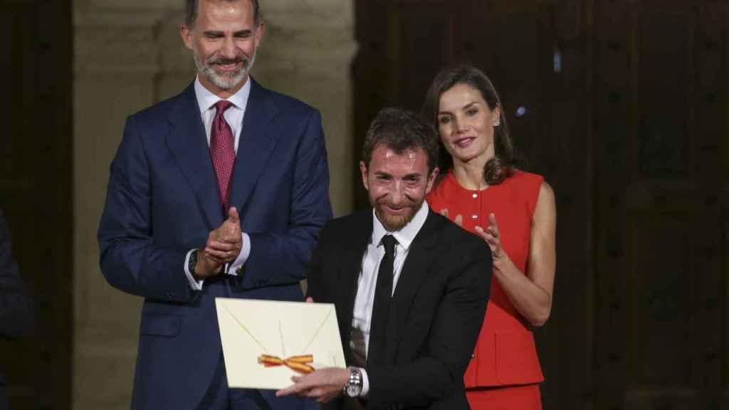 Los reyes con Pablo Motos.