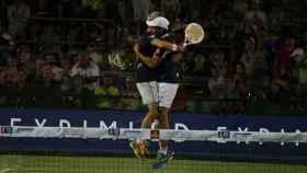 Miguel Lamperti y Juani Mieres en los cuartos en Buenos Aires.