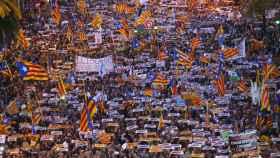 Manifestación de este 11 de noviembre en Barcelona.