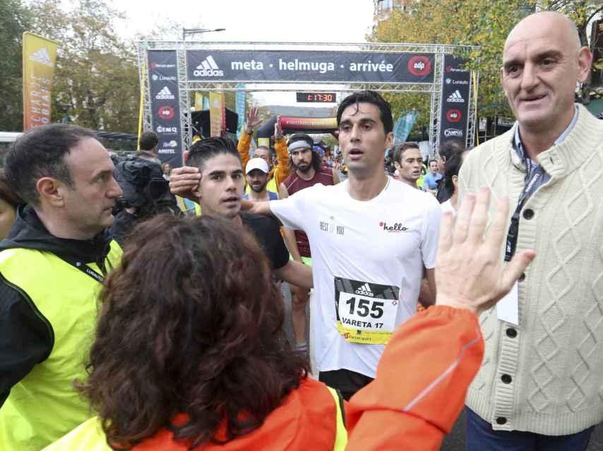 Álvaro Arbeloa al concluir su participación en la Behobia-San Sebastián.