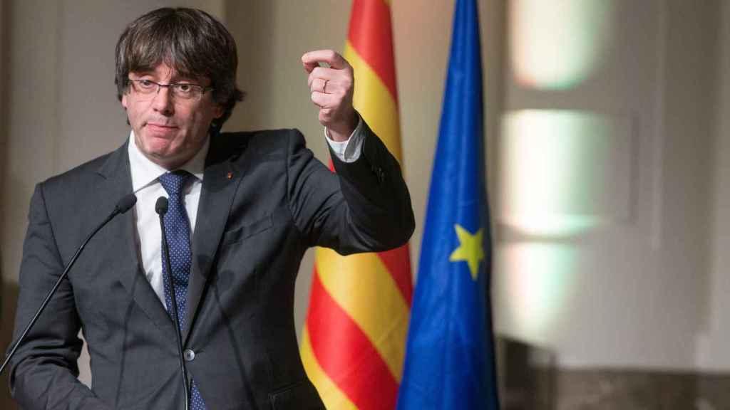 Puigdemont, en un acto en Bruselas.