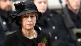Theresa May en el homenaje a los caídos celebrado en Londres