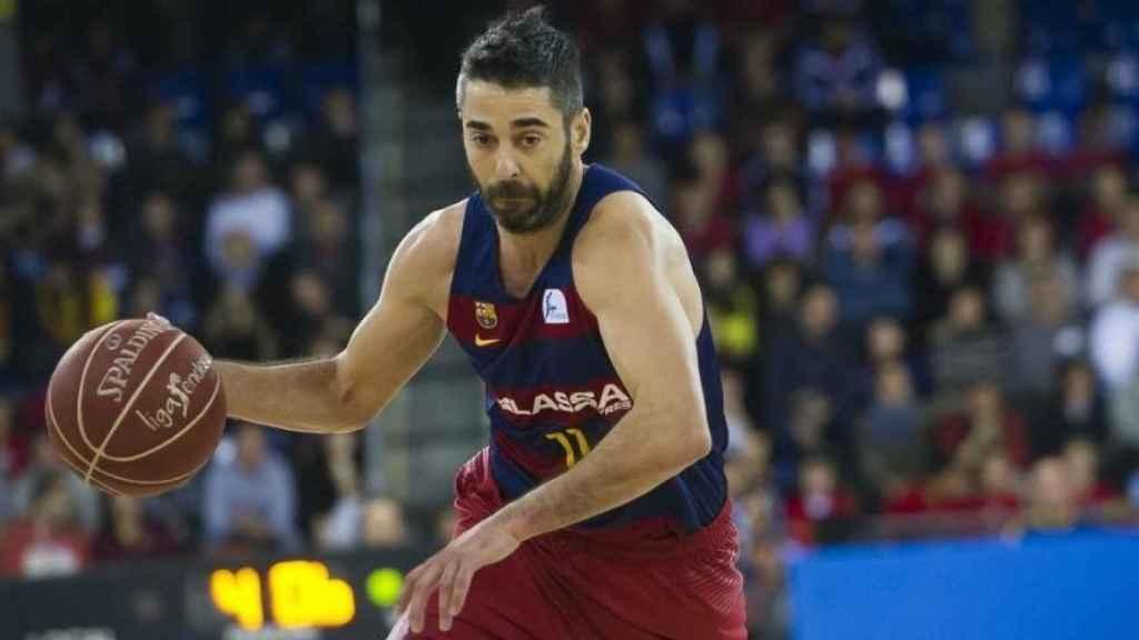 Juan Carlos Navarro jugando con el Barcelona. Foto: fcbarcelona.com