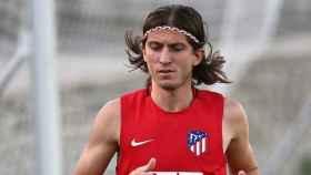 Filipe Luis, entrenando con el Atleti. Foto. Instagram (@filipeluis)
