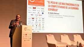 El catedrático Emilio Ontiveros, en el congreso 'Competitividad de la economía española. El papel de las multinacionales'.