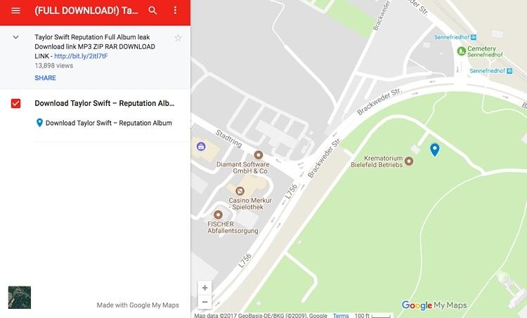 taylor swift reputation descarga ilegal album google maps musica